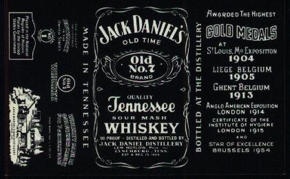 The Jack Daniel S Labels From Lem Motlow From Gentleman
