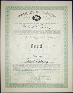 click image for close up: Deed 1974